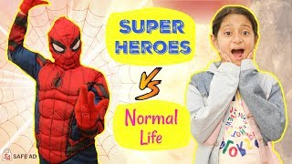 Download Super Heroes Vs Normal Life | #SpiderVerse #Spiderman #Roleplay #Fun #Sketch #MyMissAnand Video