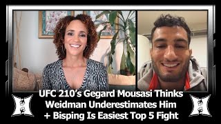 Download UFC 210's Gegard Mousasi Thinks Weidman Underestimates Him, Bisping Is Weakest Fighter In MW Top 5 Video