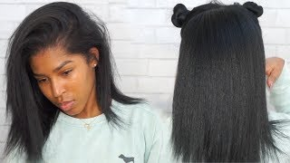 Download Updated Wash, Blow Dry And Flat Iron Routine! Natural Hair ft. Dark and Lovely Video