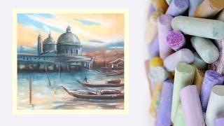 Download Картина за 10 минут! Видео урок Рисуем Венецию Пастелью! #Dari Art Video