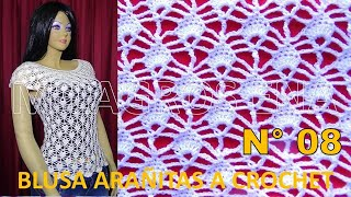 Download Blusas tejidas a crochet en punto arañitas paso a paso TODAS LAS TALLAS Video