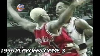 Download Alonzo Mourning vs Dennis Rodman Crazy Matchup in 1996 Playoffs Game 3! Video
