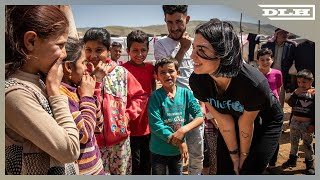 Download Dua Lipa Meets Children And Young People at Refugee Settlements In Lebanon Video