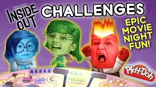 Download INSIDE OUT CHALLENGE x 2 - Movie Night Fun w/ Playdoh & Clothes (FUNnel Vision Disney Sillyness) Video