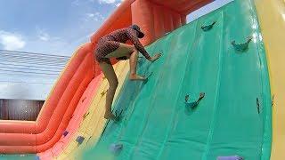 Download Ridiculous Balloon Water Slide at Pantai Norasingh Water Park Video