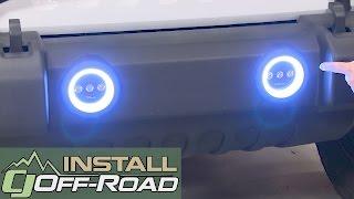 Download Jeep Wrangler Oracle Lighting Fog Light Halo Ring Kit LED White 2007-2018 Installation Video