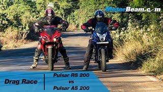 Download Pulsar RS 200 vs Pulsar AS 200 - Drag Race | MotorBeam Video