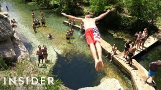 Download Diving Into Jacob's Well + Harvesting Honey | Travel Dares Video