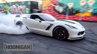 Download [HOONIGAN] DT 122: C7 Z06 Corvette 650hp donuts by Pro Drifter Alec Hohnadell Video