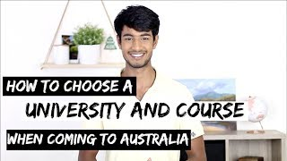 Download How to CHOOSE a UNIVERSITY & COURSE in AUSTRALIA | Things to consider Video