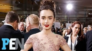 Download 'Rules Don't Apply' Star Lily Collins Reveals The Difficulty Of Her Golden Globes Dress | People Video