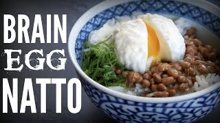 Download BRAIN EGG NATTO Bowl   a brain-shaped egg & stinky beans on rice Video