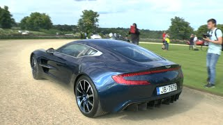 Download RARE Blue Aston Martin ONE-77 - Lovely V12 SOUND!! Video