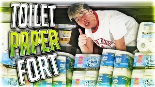 Download LIT TOILET PAPER FORT AT WALMART Video