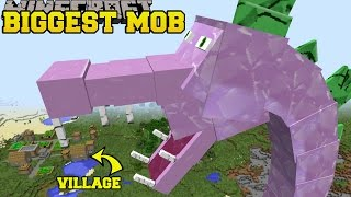 Download Minecraft: BIGGEST MOB IN MINECRAFT (SPIKEZILLA IS HERE!) Mod Showcase Video