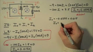 Download How to Solve a Kirchhoff's Rules Problem - Simple Example Video