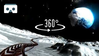 Download 360 VR Roller Coaster on the Moon: Virtual Reality 3D video Video