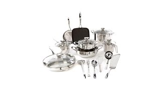 Download Wolfgang Puck Bistro Elite 19pc Stainless Cookware Set Video