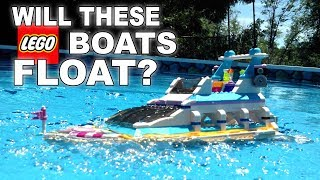 Download DO THESE LEGO BOATS FLOAT? #2 Video