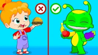 Download Groovy The Martian | Lunchbox challenge at school! Learn to eat healthy fruits and veggies Video