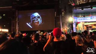 Download Live Star Wars Force Awakens Trailer Viewing at Downtown Disney - 4K Video