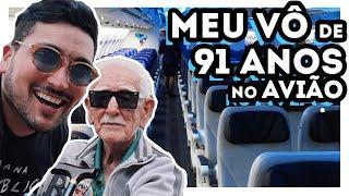 Download VOANDO pra ORLANDO com meu AVÔ de 91 ANOS de AZUL - Estevam Pelo Mundo Video