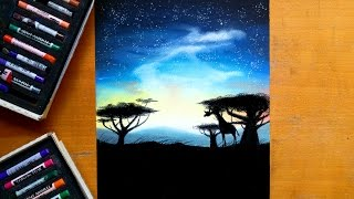 Download Painting an African landscape with soft pastels | Leontine van vliet Video