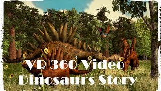 Download VR 360 Video Discovery Dinosaurs Story 3D Animated Film Video