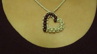 Download How to make small heart pendant with pearls/ DIY Valentine's day project Video