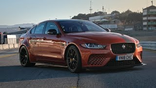 Download Fastest Production Sedan in The World? Jaguar XE SV Project 8 at Laguna Seca Video