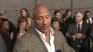 Download 'Rampage' colleagues say star Dwayne Johnson did all the heavy lifting - in the gym Video
