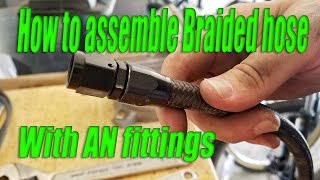 Download How to make/assemble braided hose with AN fittings MADE EASY! Video