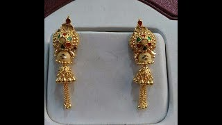 Download Gold Earrings Light Weight Daily Wear Latest Designs Video