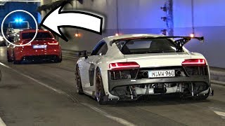 Download TUNED Cars Accelerating & Doing Burnouts in a Tunnel! - COPS Show Up! (Hilarious Reactions) Video