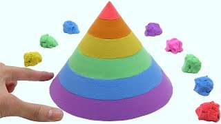 Download Learn Colors With Kinetic Sand Rainbow Cone Surprise Toys How To Make For Children Video