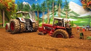 Download RC TRACTOR destroyed a pipeline & needs help - Rc toy action Video