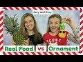Download Real Food vs Ornament Challenge ~ Jacy and Kacy Video
