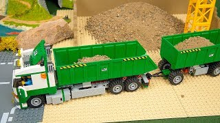 Download Lego Experimental Cars and Concrete Mixer, Excavator, Dump Truck, Police Cars Toy Vehicles for Kids Video