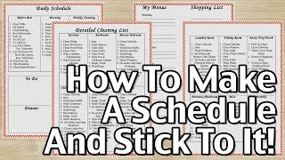 Download How To Make A Schedule And Stick To It! Video