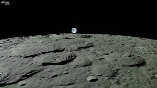 Download Earthrise - Planet Earth Seen From The Moon - Real Time Journey Across The Lunar Surface Video