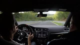Download 2017 Golf GTI Clubsport chasing 911 GT3 at Nurburgring nordschleife Video