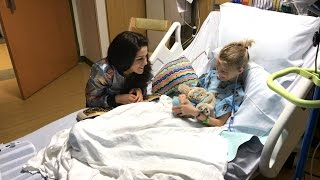 Download Bayley meets an adorable fan at the Florida Hospital for Children Video