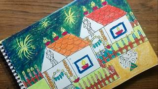 Download How to draw diwali festival drawing for kids Video