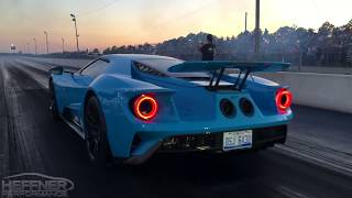Download 2017 Ford GT 1/4 Mile Testing with Heffner Performance Titanium Exhaust System Video