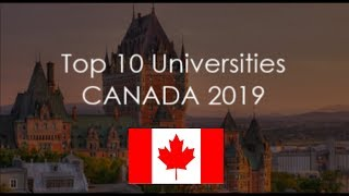 Download Top 10 Universities In Canada 2019 / With World Rankings Video