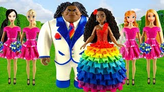 Download Play doh Rainbow disney princess | Moana & Maui | Wedding dress Video