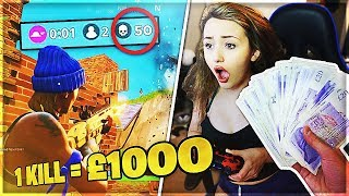 Download I Gave my Girlfriend £1,000 for Every Kill in Fortnite: Battle Royale Video
