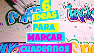 Download Ideas para MARCAR cuadernos 💎 Sarish Video
