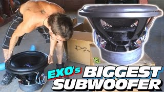 Download MY BIGGEST SUBWOOFER EVER w/ 18″ PSI Car Audio PLATFORM 5 | Unboxing EXO's Largest SUB WOOFER Video