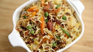 Download How To Make Navratan Pulav | Navratan Pulao Recipe | Indian Rice Recipe | Recipe by Ruchi Bharani Video
